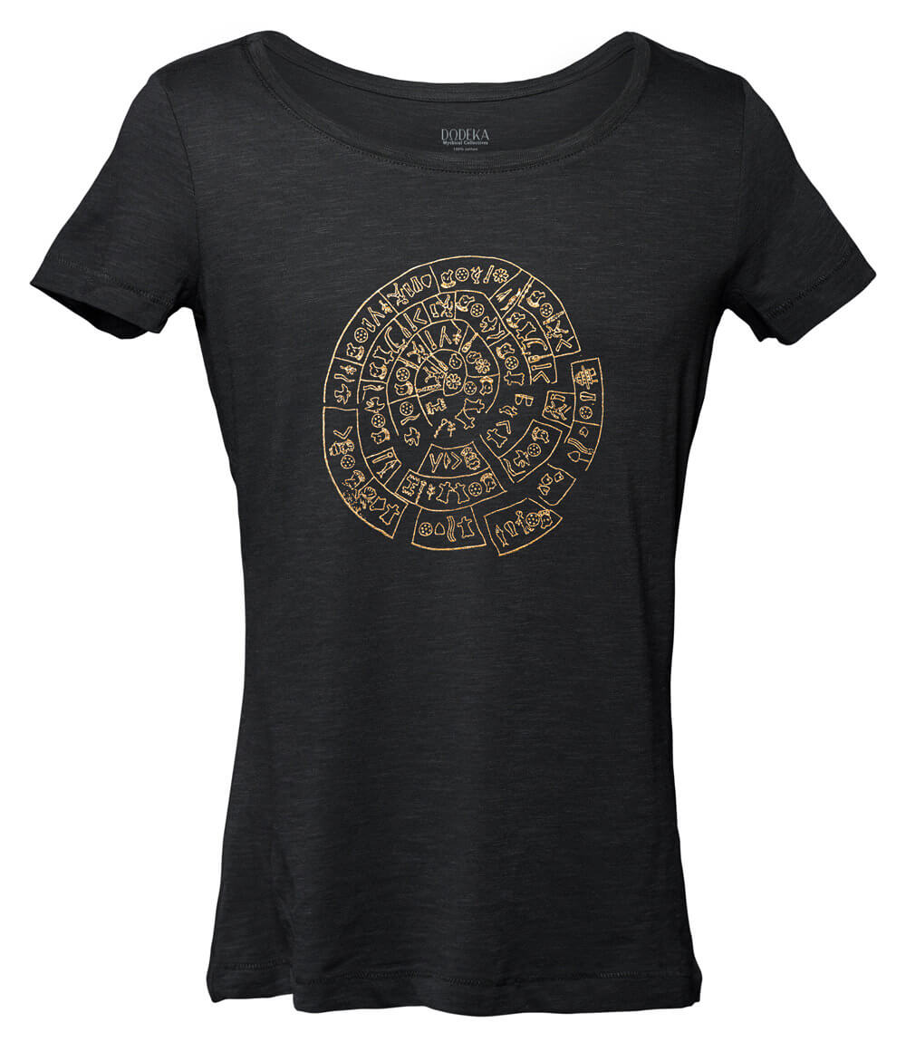 Women T-shirt PHAISTOS DISK