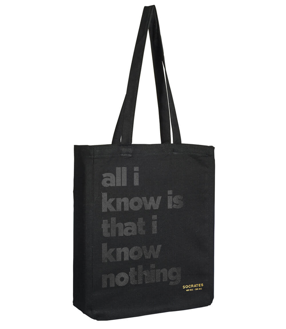 Shopping Bag SOCRATES QUOTE
