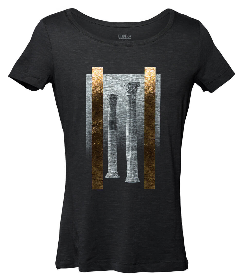Women T-shirt TEMPLE OF ZEUS